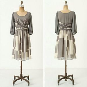 Silk Dusky Striations dress